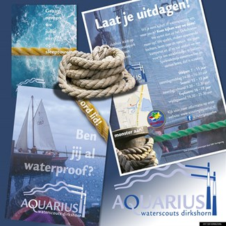 Huisstijl waterscouting Aquarius